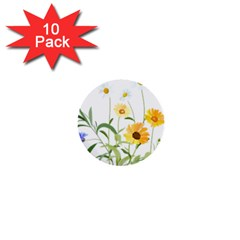Flowers Flower Of The Field 1  Mini Buttons (10 Pack)  by Nexatart