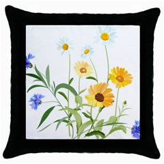 Flowers Flower Of The Field Throw Pillow Case (Black)