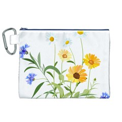 Flowers Flower Of The Field Canvas Cosmetic Bag (xl)