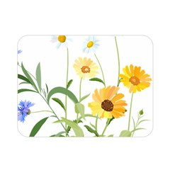 Flowers Flower Of The Field Double Sided Flano Blanket (mini)