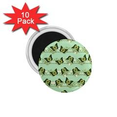 Green Butterflies 1 75  Magnets (10 Pack)  by linceazul