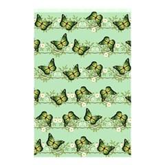 Green Butterflies Shower Curtain 48  X 72  (small)  by linceazul