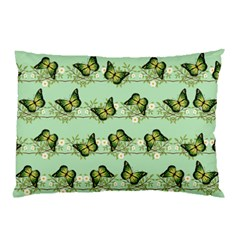 Green Butterflies Pillow Case (two Sides) by linceazul