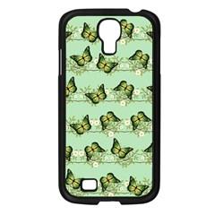 Green Butterflies Samsung Galaxy S4 I9500/ I9505 Case (black) by linceazul