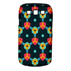 Connected shapes pattern    Samsung Galaxy S II i9100 Hardshell Case (PC+Silicone) by LalyLauraFLM
