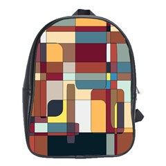Patchwork School Bags (xl)  by theunrulyartist