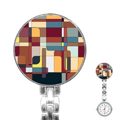 Patchwork Stainless Steel Nurses Watch by theunrulyartist