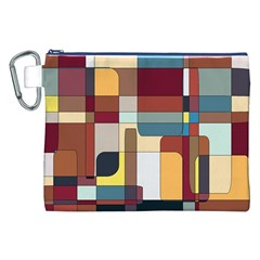 Patchwork Canvas Cosmetic Bag (xxl) by theunrulyartist