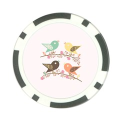 Four Birds Poker Chip Card Guard by linceazul