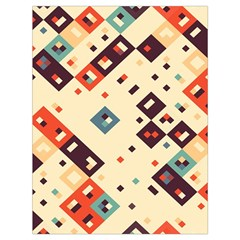 Squares In Retro Colors         Large Drawstring Bag by LalyLauraFLM