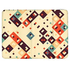 Squares In Retro Colors   Htc One M7 Hardshell Case by LalyLauraFLM