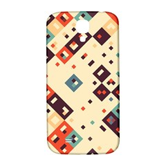 Squares in retro colors   Samsung Note 2 N7100 Hardshell Back Case by LalyLauraFLM