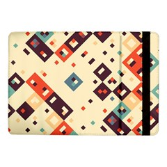 Squares In Retro Colors   Samsung Galaxy Tab Pro 8 4  Flip Case by LalyLauraFLM