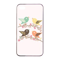 Four Birds Apple Iphone 4/4s Seamless Case (black) by linceazul