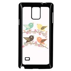 Four Birds Samsung Galaxy Note 4 Case (black) by linceazul