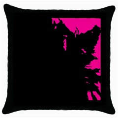 Abstraction Throw Pillow Case (black) by Valentinaart