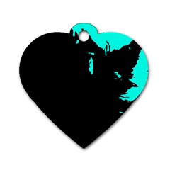 Abstraction Dog Tag Heart (two Sides) by Valentinaart