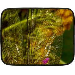 Dragonfly Dragonfly Wing Insect Fleece Blanket (mini) by Nexatart