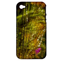 Dragonfly Dragonfly Wing Insect Apple Iphone 4/4s Hardshell Case (pc+silicone) by Nexatart