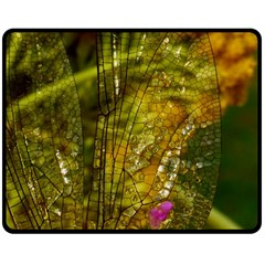 Dragonfly Dragonfly Wing Insect Double Sided Fleece Blanket (medium)  by Nexatart