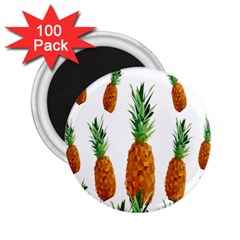 Pineapple Print Polygonal Pattern 2 25  Magnets (100 Pack)  by Nexatart