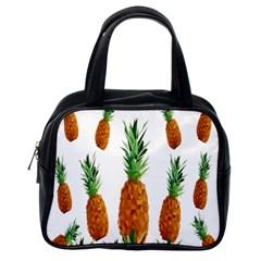 Pineapple Print Polygonal Pattern Classic Handbags (one Side) by Nexatart