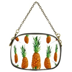 Pineapple Print Polygonal Pattern Chain Purses (two Sides)  by Nexatart