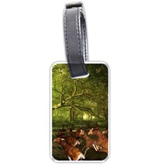 Red Deer Deer Roe Deer Antler Luggage Tags (two Sides) by Nexatart