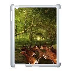 Red Deer Deer Roe Deer Antler Apple Ipad 3/4 Case (white) by Nexatart