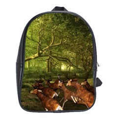 Red Deer Deer Roe Deer Antler School Bags (xl)  by Nexatart