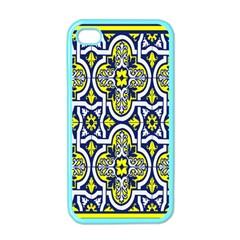 Tiles Panel Decorative Decoration Apple Iphone 4 Case (color) by Nexatart