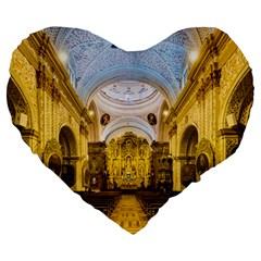 Church The Worship Quito Ecuador Large 19  Premium Heart Shape Cushions