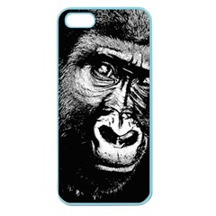 Gorilla Apple Seamless Iphone 5 Case (color) by Valentinaart