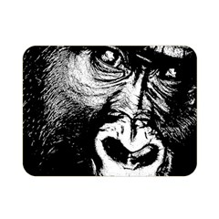 Gorilla Double Sided Flano Blanket (mini)  by Valentinaart
