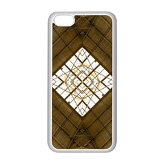 Steel Glass Roof Architecture Apple Iphone 5c Seamless Case (white) by Nexatart