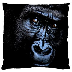 Gorilla Large Flano Cushion Case (two Sides) by Valentinaart