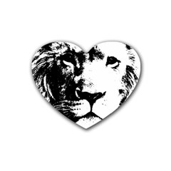 Lion  Rubber Coaster (heart)  by Valentinaart