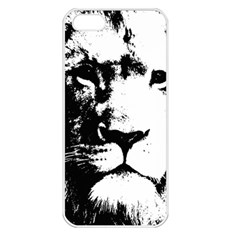 Lion  Apple Iphone 5 Seamless Case (white) by Valentinaart