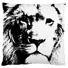 Lion  Large Flano Cushion Case (two Sides) by Valentinaart