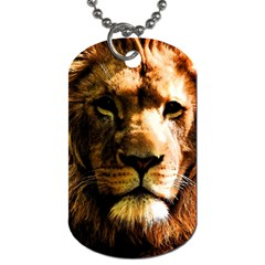 Lion  Dog Tag (one Side) by Valentinaart
