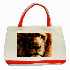 Lion  Classic Tote Bag (red) by Valentinaart