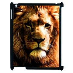 Lion  Apple Ipad 2 Case (black) by Valentinaart