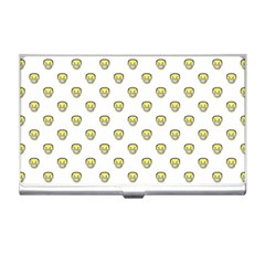 Angry Emoji Graphic Pattern Business Card Holders by dflcprints