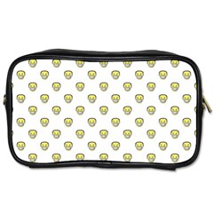 Angry Emoji Graphic Pattern Toiletries Bags by dflcprints