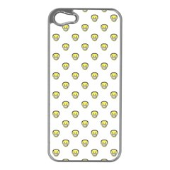 Angry Emoji Graphic Pattern Apple Iphone 5 Case (silver) by dflcprints