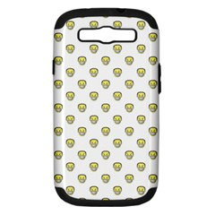 Angry Emoji Graphic Pattern Samsung Galaxy S Iii Hardshell Case (pc+silicone) by dflcprints