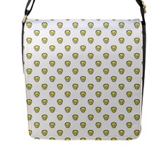 Angry Emoji Graphic Pattern Flap Messenger Bag (l)  by dflcprints