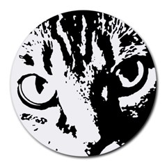 Cat Round Mousepads by Valentinaart