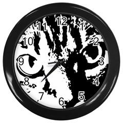 Cat Wall Clocks (black) by Valentinaart