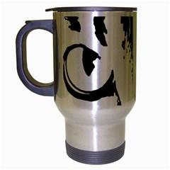 Cat Travel Mug (silver Gray) by Valentinaart